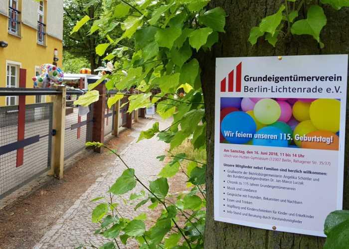 Lichtenrade Berlin De 115 Jahre Grundeigentumerverein Lichtenrade