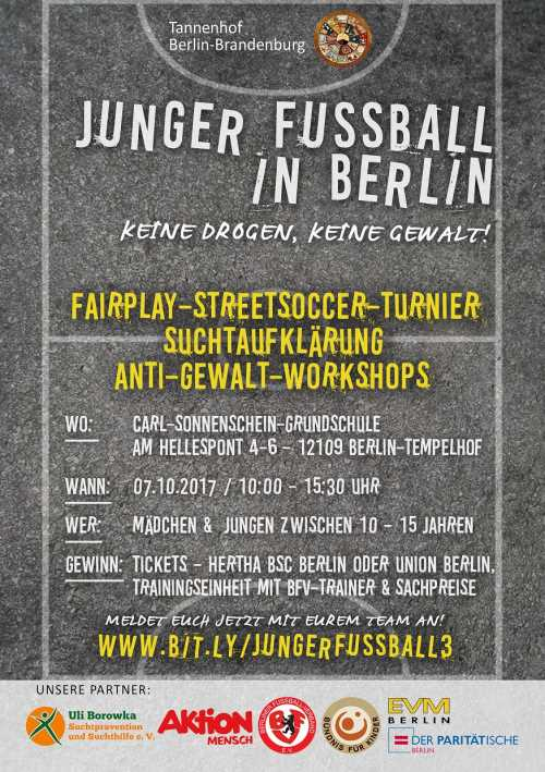Flyer JungerFussball Tempelhof07 10 17