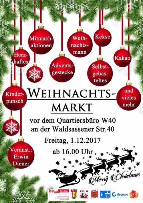 Weihnachtsmarkt W.Lichtenrade Berlin De Stände Für Weihnachtsmarkt W 40 In